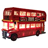 POXL Set di Luci per (London Bus) Modello - Kit Luce LED Lighting Compatibile con Lego 10258( Lego Set Non Incluso)