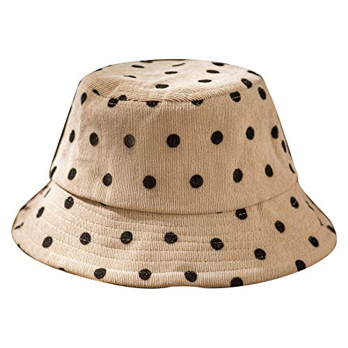 Unisex Baby Plaid Sunhat Toddler Breathable Bucket Hat with Elastic Cord Kids Sun Protection Hat Khaki
