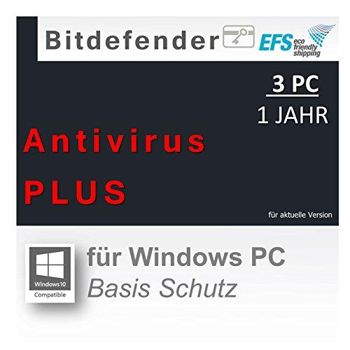 Bitdefender Antivirus PLUS 2016 3 PC 1 Jahr |OEM|PKC|EFS