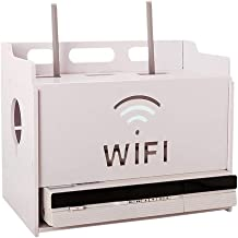 Set Top Box Shelf Wireless WiFi Thickened and Hardened Sheet Wall Mount Clamshell Design, 2 Styles (Size : 10.237.088.46in)