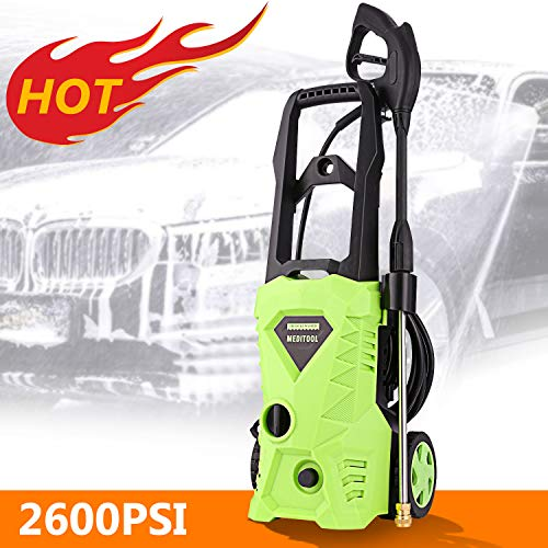 Homdox Electric Pressure Washer, Power Washer with 2600 PSI,1.6GPM,...
