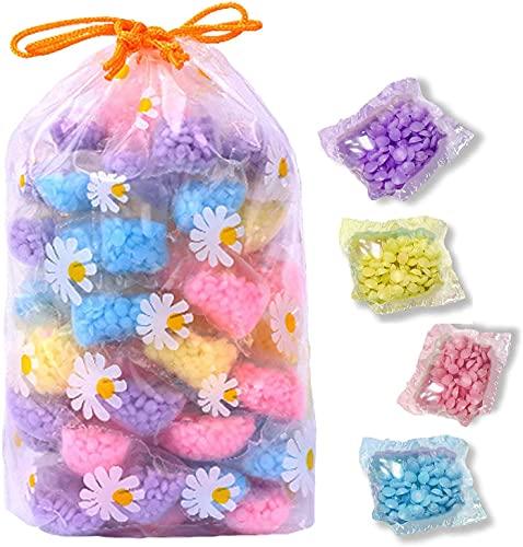 Meeyeet in-Wash Scent Booster Beads, perline da bucato Lavanda sfusa, 60 capsule di profumo in confezione indipendente - Profumo fresco e più conveniente (4 Mix)