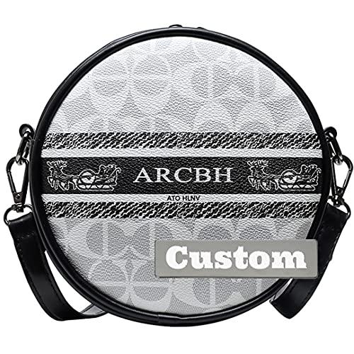 RXDZ nome personalizzato medio borsa nera Crossbody portafoglio in pelle estate bianco borsa piccola (colore : bianco, taglia unica)