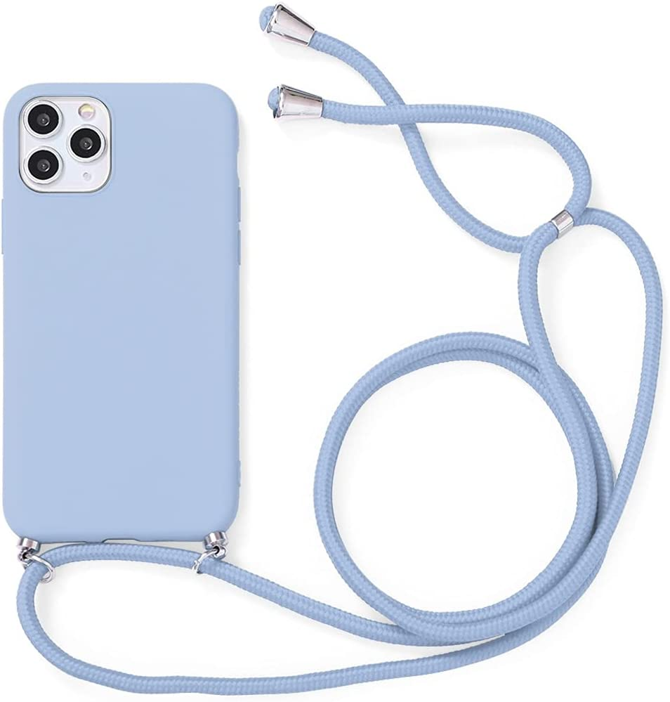 Yoedge Crossbody Case for OnePlus 8T (5G), Neck Cord Phone Case with Adjustable Lanyard Strap, Soft TPU Silicone Shock-Proof Cover Compatible with OnePlus 8T 5G [6.55