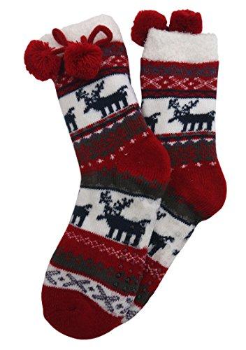 Sockswear Home Socks mit Teddyinnenfutter rot 39-42