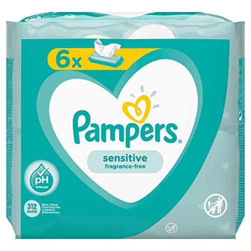 Pampers 81687204 Sensitive Baby Feuchttücher, weiß
