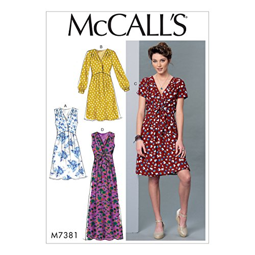 McCall's Patterns Misses Pleated Dresses with Optional Front-Tie