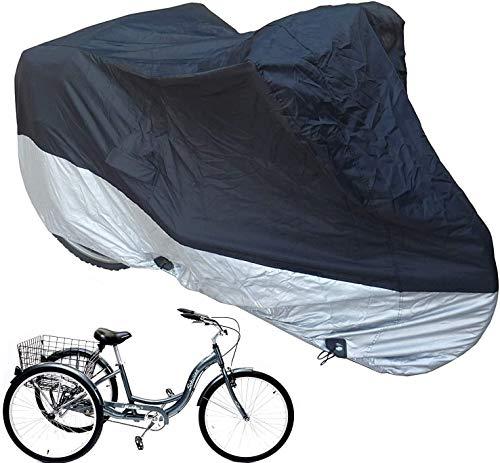 Funda para Bicicleta Exterior Adulto Triciclo cubierta cubierta de la bici, bicicletas al aire libre Moto almacenaje de la cubierta, for trabajo pesado Ripstop material, resistente al agua y anti-UV