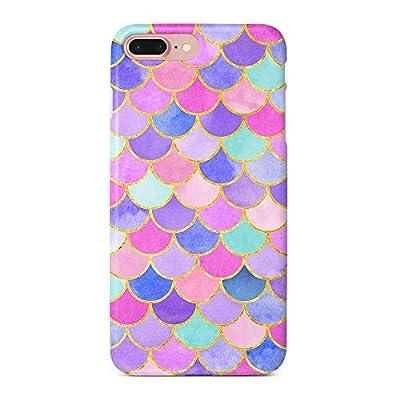 "uCOLOR Case Cute Case for iPhone 8 Plus/7 Plus/6S Plus/6 Plus Mermaid Scales Pink Soft TPU Silicone Shockproof Cover for iPhone 8 Plus/7 Plus/6S Plus/6 Plus(5.5"")"