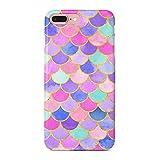 uCOLOR Case Cute Case for iPhone 8 Plus/7 Plus/6S Plus/6 Plus Mermaid Scales Pink Soft TPU Silicone Shockproof Cover for iPhone 8 Plus/7 Plus/6S Plus/6 Plus(5.5')