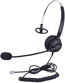 Callez C200A2 Corded Telephone Headset Monaural with Microphone Compatible to Avaya Aastra Allworx Adtran Alcatel Lucent AltiGen Comdial Digium Gigaset InterTel Mitel Plantronics Landline Deskphone