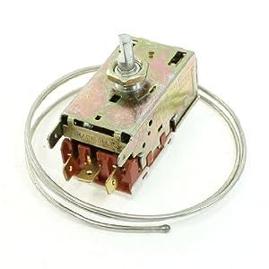 sourcingmap AC 250V 3A 3Pins terminaux réfrigération Thermostat pour réfrigérateurs