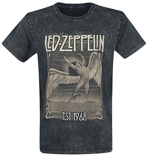 Led Zeppelin Faded Falling T-Shirt schwarz XL