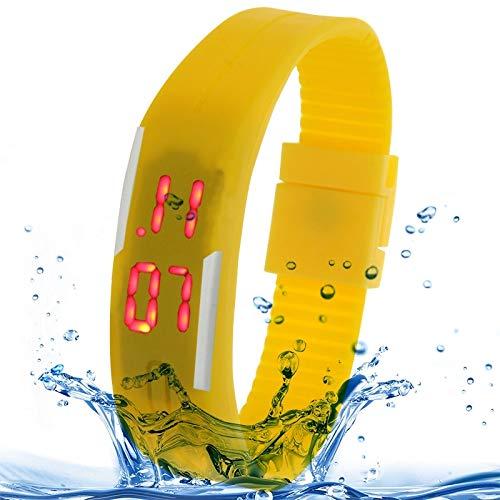 YEYOUCAI Reloj impermeable de la pulsera del silicón de la manera del perseguidor