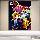 chthsx Abstrakte Hund Wandkunst Nachdenklich Pitbull