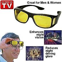 Forcado Day & Night Unisex HD Vision Goggles Anti-Glare Polarized Sunglasses Men/Women Driving Glasses Sun Glasses UV Protection -Set of 2 glass/Goggles, Car Drivers (Black) -Set of 2