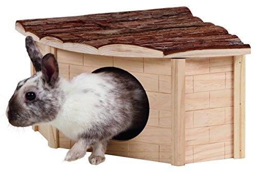 Kerbl Caseta esquinera para roedores Nature 31 x 31 x 20 cm