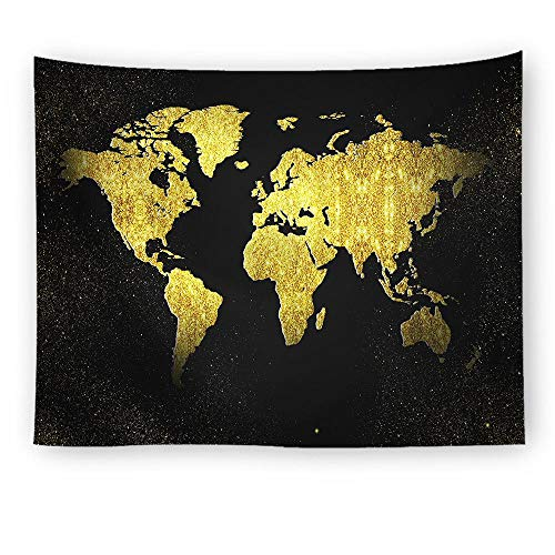 empty World Map, Color Pattern Wall Tapestry Wall Tapestry Wall Tapestry Star Tapestry Family Living Room Decoration,图片8,100X75Cm