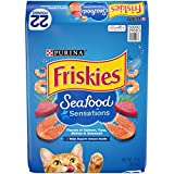 Purina Friskies Dry Cat Food, Seafood Sensations - 22 lb. Bag