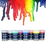 Premium Fabric & Textile Paints by individuall – Professional Grade Clothing Paint Set – Art and Hobby Paints – Craft Paint Set with 8 x 20 ml / 0.7 fl oz  - Vivid Colors – For Beginners, Students, & Artists