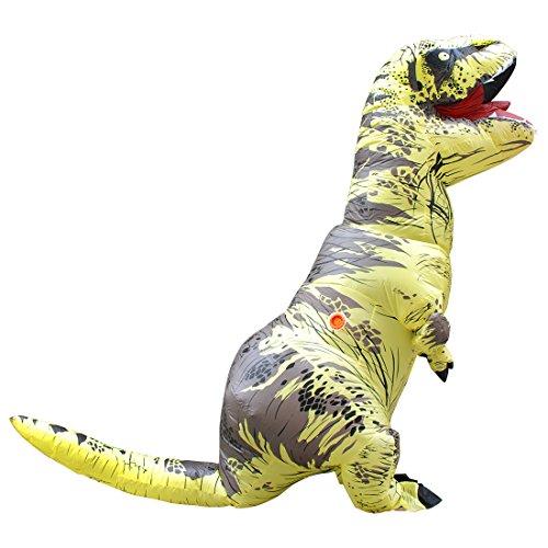 FunnyCos Disfraz inflable T-Rex disfraz de dinosaurio adulto para Halloween, Navidad, fiestas