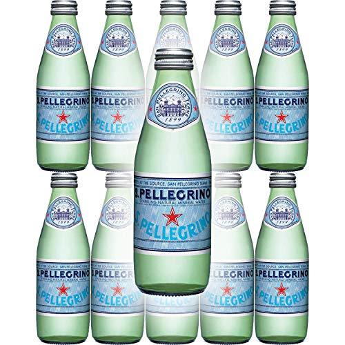 San Pellegrino Sparkling Natural Mineral Water, 8.45oz Glass Bottle (Pack of 10)