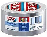 TESA 50565cintas de Aluminio, Aluminio soporte, Acrílico masa adhesiva, 90μm, 50m X 25mm, Transparente, paquetes de 36unidades