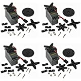 RGBZONE 4PCS S3003 Servo Motor Standard RC Servo High Speed for Smart Car Robot Boat RC Helicopter