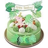 Decoración de Pastel de Dinosaurio, 4 Piezas Decoración de Tartas Cumpleaños, Cumpleaños Cupcake Toppers, Birthday Cake Decorations, para Fiestas Infantiles, Cumpleaños (Rosado)