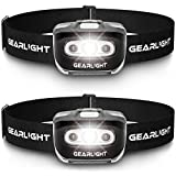 GearLight LED Headlamp Flashlight S500 [2 PACK] - Running, Camping, and Outdoor Headlamps - Best Head Lamp with Red Safety Light for...