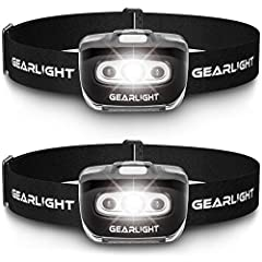 Super Bright & Long-lasting - Powerful U.S. developed XPG2 LED generates a powerful beam with daylight color and definition. Runtime of up to 45 hours on low and 3 hours on high. (Powered by 3 AAA batteries - not included.) Lightweight and Comfortabl...