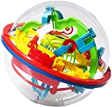 Maze Ball 3D, Maze Ball Interactive Maze Game with Education Toy Sphere Game Ball Boy Gifts Tiny Balls Brain Teasers Game Maze Ball Puzzle Toy Gifts