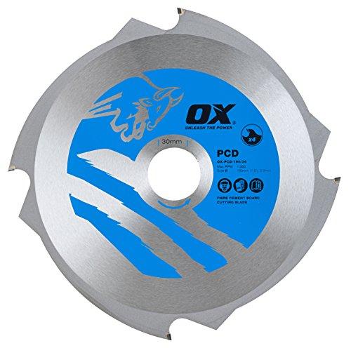 OX Fibre Cement Cutting Blade - 4 Teeth - 190/30mm