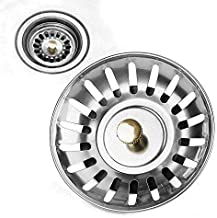 8CM Stainless Steel Kitchen Sink Strainer Waste Plug Filter Drain Stopper (2)