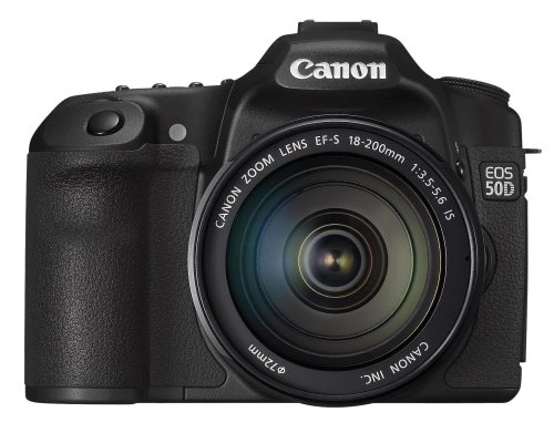 Canon EOS 50D SLR-Digitalkamera (15 Megapixel, Live-View) Kit inkl. EF-S 18-200 IS Objektiv (bildstabilisiert)