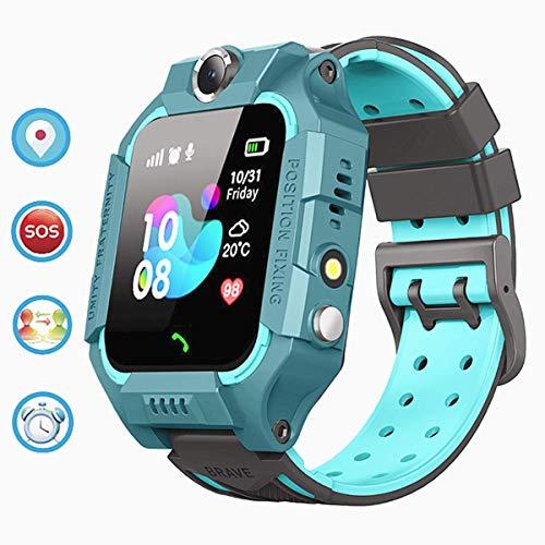 linyingdian Kids Smartwatch, Kids Smart Watch met waterdicht, IP67 LBS SOS, Camera, Gaming, Smartwatch met simkaartsleuf, Gift Boy Girl (3 tot 12 jaar oud) compatibel met iOS / Android (Groen)