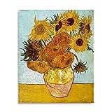 Van Gogh girasol cartel de lienzo abstracto pintura al óleo famosa impresión de arte decoración de la sala de estar pintura de lienzo A4 40x60 cm
