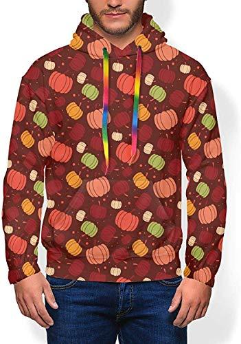 Longing-Summer - Sudadera con capucha para hombre, diseño de acción de gracias y parientes de colores