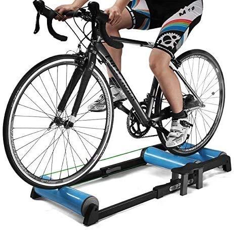 Rindasr Radfahren Fahrradtrainer, Länge verstellbar, in-situ-Sport-Bike Rolle, Bergstraße Innenbeinübung Fitnessgeräte