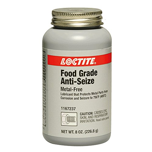 Loctite 1167237 White LB 8014 Food Grade Anti-Seize Lubricant, -20 Degree F Lower Temperature Rating to 750 Degree F Upper Temperature Rating, 8 fl. oz. Brush Top Can