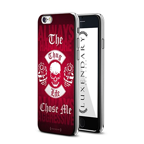 Luxendary LUX-I6PLCRM-THUG2 The Thug Life Chose Me Design Chrome Series Case for iPhone 6/6S Plus
