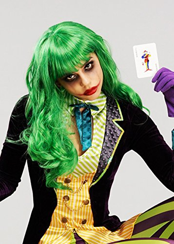 Magic Box Mujeres la Peluca de Misfit Verde Estilo Joker