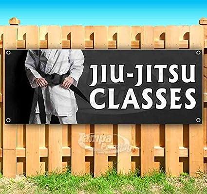 Jiu-Jitsu Classes 13 oz Banner Heavy-Duty Vinyl Single-Sided with Metal Grommets