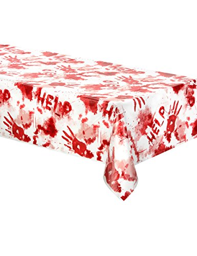Generique - Kunststofftischdecke mit Blutspritzern 140x260cm