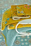 Pip Les Fleurs - Toalla de ducha (70 x 140 cm), color amarillo