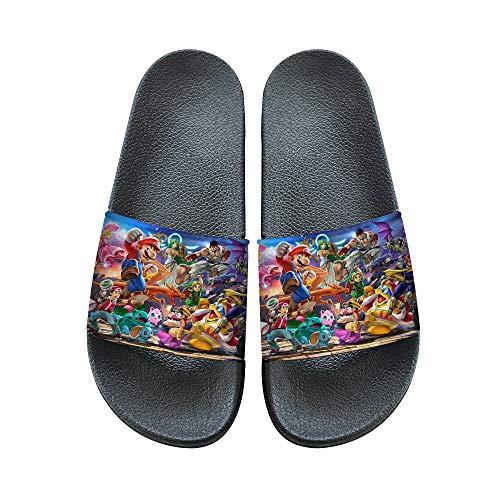 QJHDUIKO Super Smash Bros Zapatillas casa Zapatillas de Estilo Deportivo Beach Moda y Piscina Zapatos Resbalón-en Verano Cubierta (Color : A05, Size : EU41 US9)
