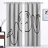 Curtain Panels Humor Sun Blocking Print Curtains Whatever Guy Meme Confusion Gesture Label Creative Drawing Rage Makers Design for Kids Girls Bedroom Living Room 2 Rod Pocket Panels, 27'W x 45'L