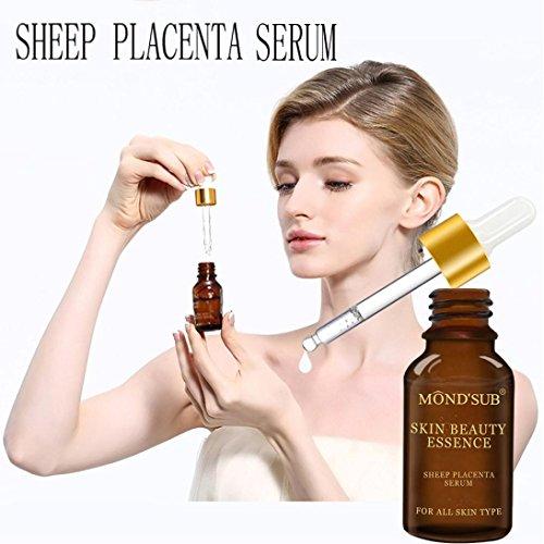 LCLrute NEUE Mode Natürliches reines festigendes Schaf-Plazenta-Serum-Kollagen-starke Antifalten (Mehrfarbig)
