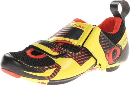 Pearl Izumi - Ride Men's Tri Fly IV Carbon Cycling Shoe,Black/Fiery Red,39 EU/6.1 D US