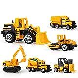 yywl Vehículos de Construcción 6pcs/Set Diecast Mini Aleación Vehículo de Construcción Juguetes Ingeniería Coche Dump Truck Modelo Clásico Juguete Regalo para Niños